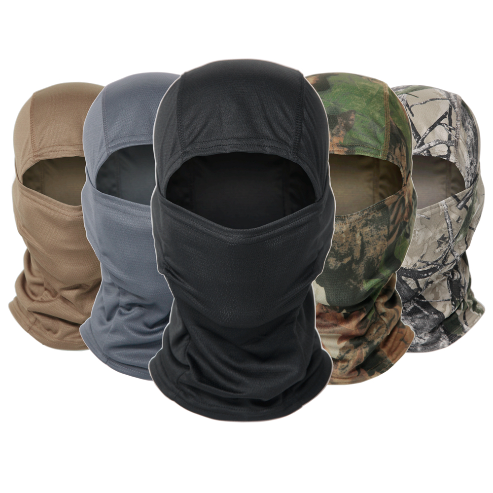 Multicam Camouflage Balaclava Cap Full Face Shield Cycling Motorcycle Skiing Airsoft Paintball Protection Tactical Military Hat