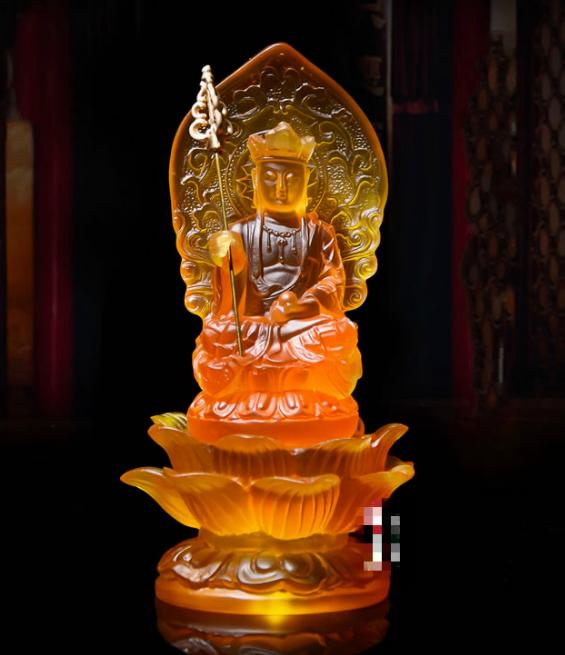 China Resin Buddhism Lotus Tang Monk Ksitigarbha Boddhisattva Netherworld Leader