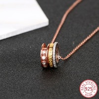 925 sterling silver female necklace pendant fashion personality letters love styling jewelry hot birthday gift 2019 new hot