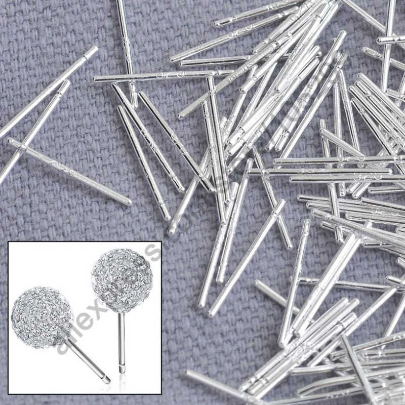 Bulk 1000PCS Pin Solid Real 925 Sterling Silver Jewelry Findings Fine Ear Stud Pin Posts Handmade Earring Designer Gift