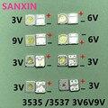 В переменного тока, 50-100 шт. для LG UNI люменов светодиодные схемы SAMSUNG абсолютно новый и оригинальный 1 Вт 3V 2W 6V 3535 2,4 Вт, холодный белый свет, подс...