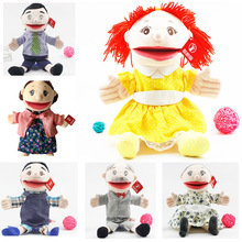 35cm family open mouth glove puppets kindergarten show mom ventriloquist tell story muppet Role play handdoll boy girl gifts toy