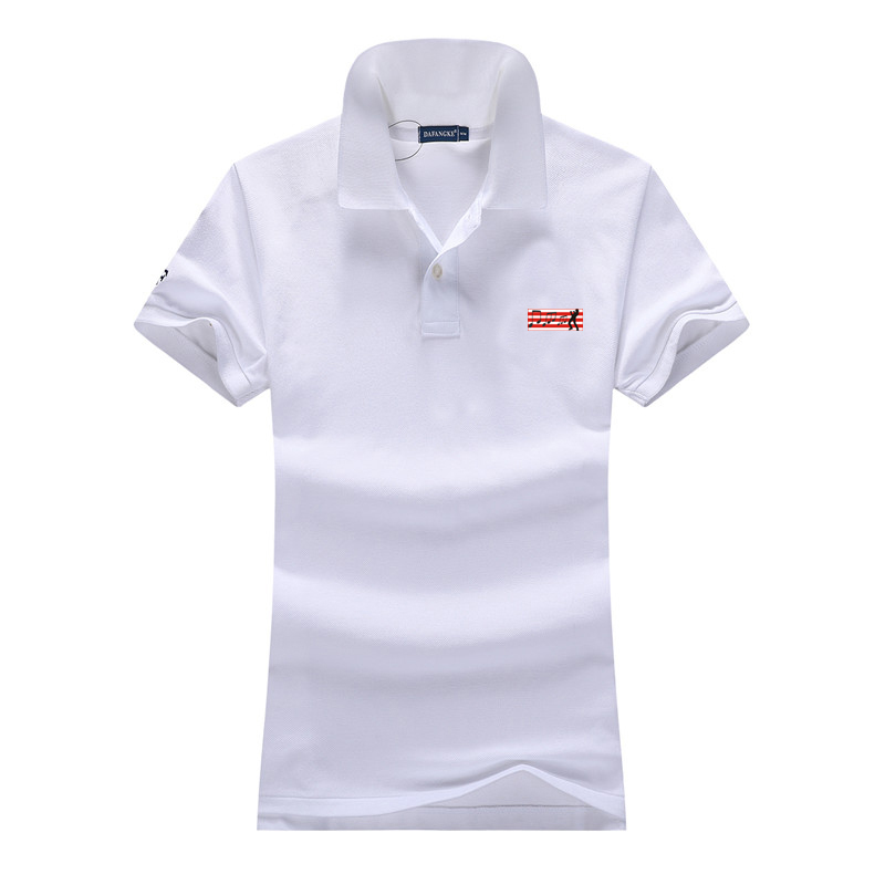 Good Quality Summer New Style Womens Short Sleeve Polos Shirts 100% Cotton Casual Womens Lapel Polos Fashion Slim Women Tops T