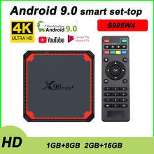 X96 Mini+ Android 9.0 TV Box S905W4 Quad Core Dual Wifi IPTV Home Theater Google Media Player Voice Youtube HDMI2.0 Set-Top Box