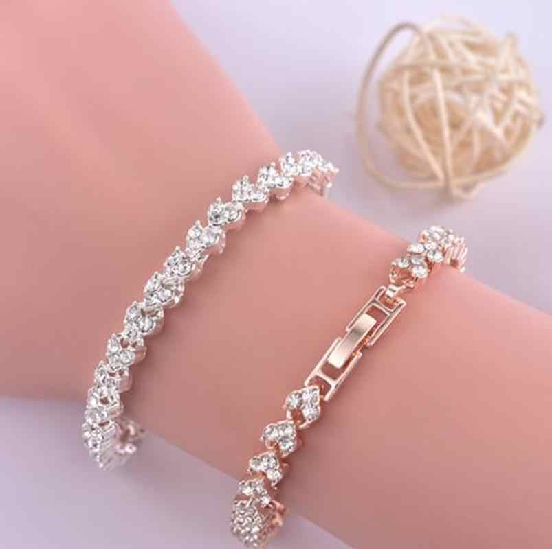Shiny Rhinestone Ingelegd Fashion Vrouwen Sieraden Armband Voor Party Anniversary Boho Armband Polsband Accessorie Voor Womens