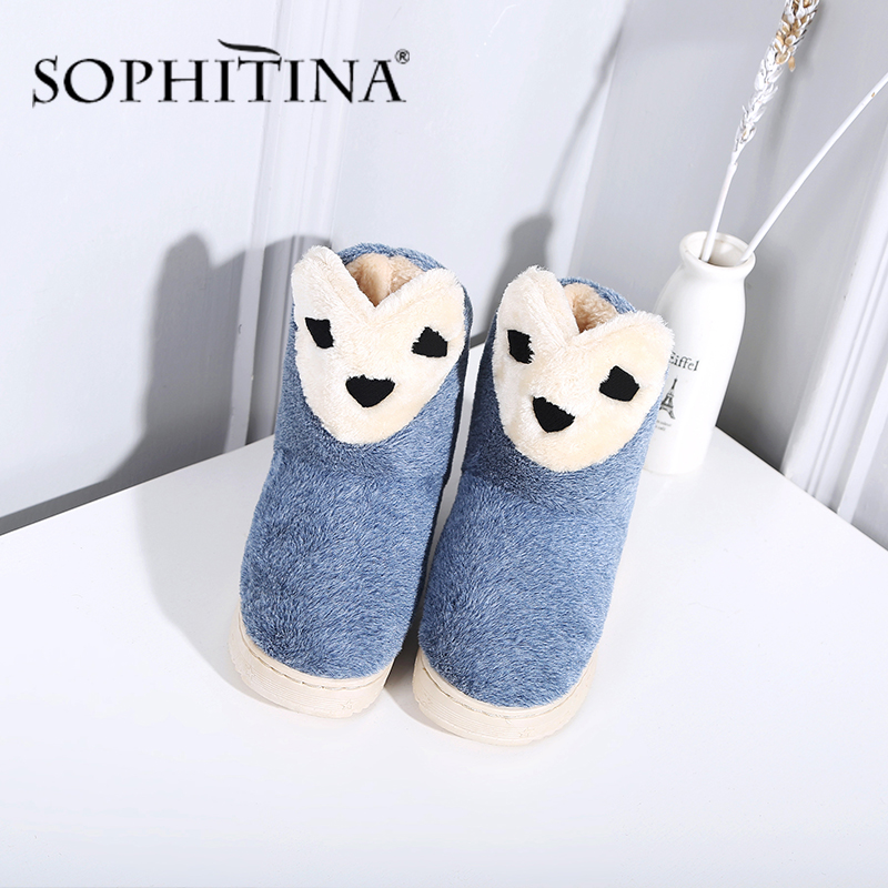 SOPHITINA New Flat Shoes Warm And Comfortable Ladies Casual Shoes Fashion Cartoon Flat Shoes SO289