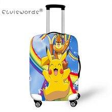 ELVISWORDS Покемон Печать Путешествия Тележка толстые эластичные багажные сумки для 18-30 дюймов пыли багажа защитные чехлы чемодан чехол