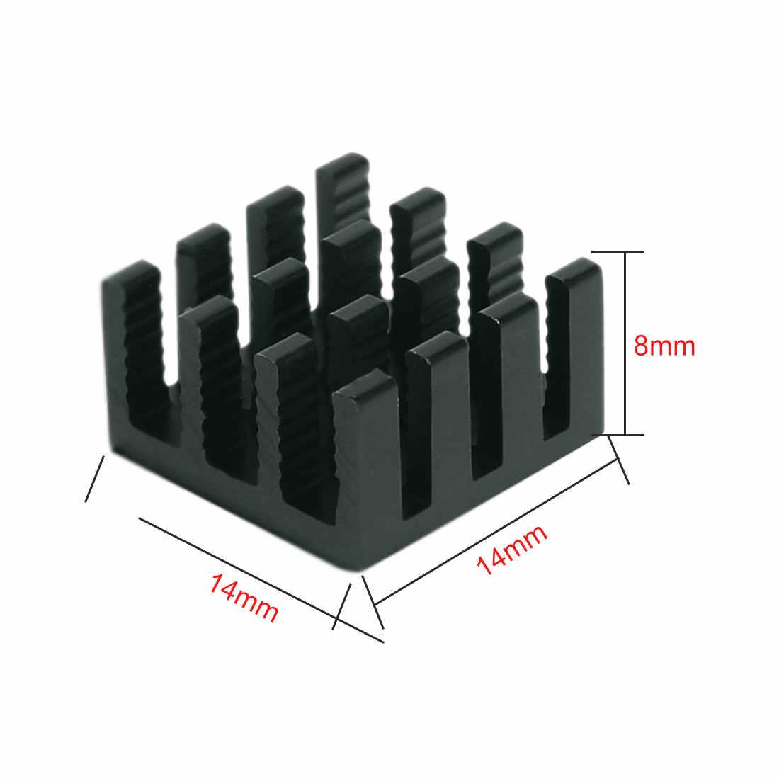 10 Chiếc Máy Tính Mát Tản Nhiệt Tản Nhiệt Nhôm Tản Nhiệt Cho Điện Tử Tản Nhiệt Làm Mát Miếng Lót 14*14*8 Mm