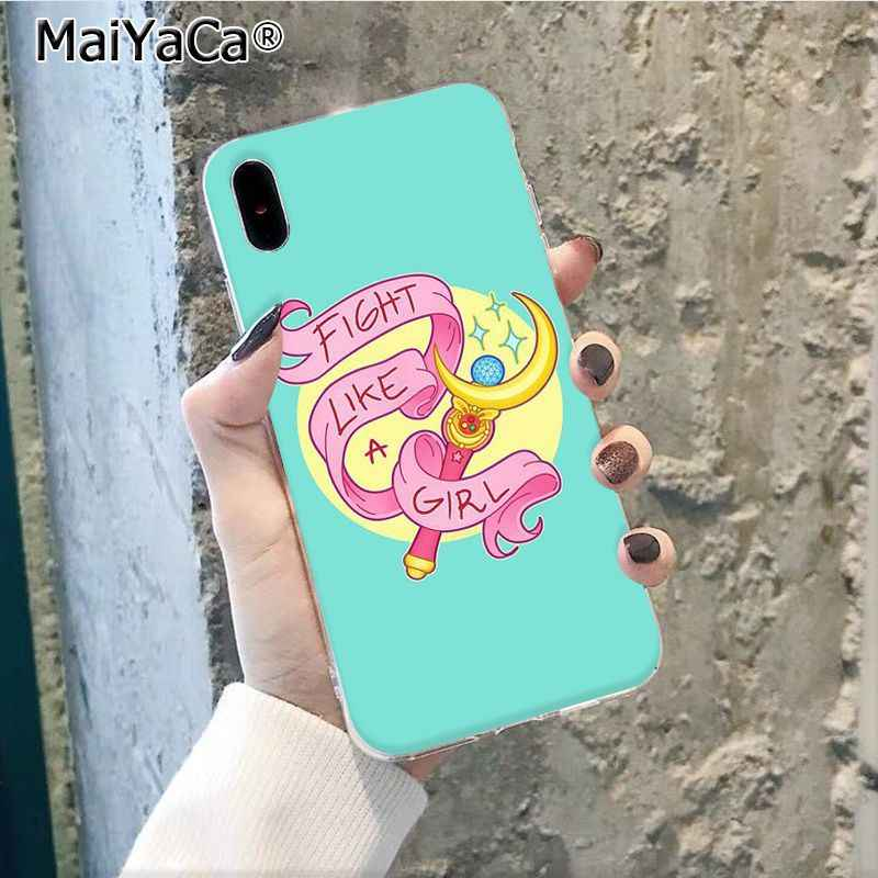 Maiyaca Pink Japanese Anime Kawaii Sailor Moon Tongkat Sihir TPU Phone Case untuk Apple iPhone 11 Pro 8 7 66S plus X XS Max 5S SE XR