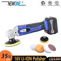 Newone 16 v sem fio ferramenta elétrica li ion bateria polisher sapato carro piso máquina de polimento limpeza com bateria accessorie|pad bedding|paper pot|pad fit -