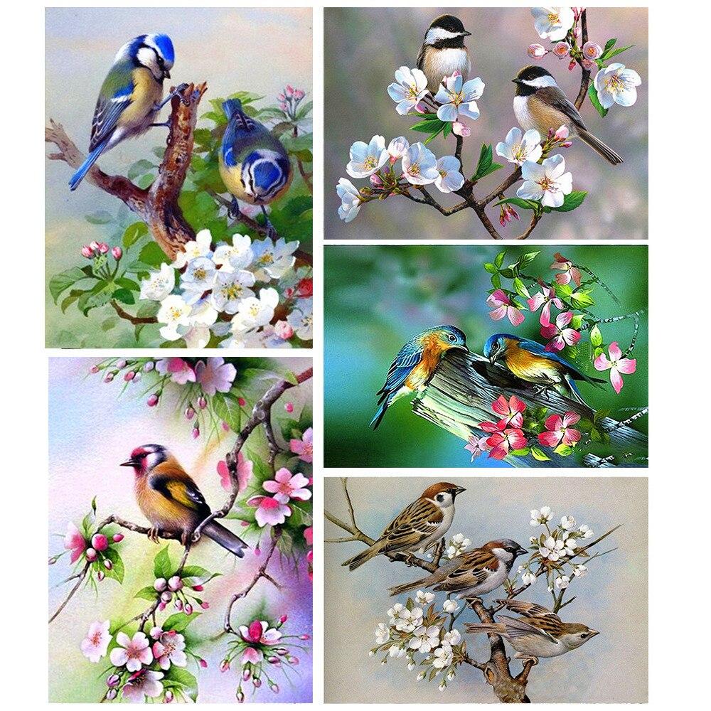 5d алмазная живопись животных, алмазная Вышивка Птицы, полная дрель, квадратная Картинка из страз, домашнее украшение