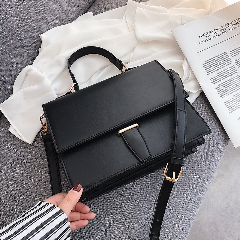 Korean Style Women Handbags Female Briefcase Unique Alligator Ladies Shoulder Messenger Bag 2019 Black Khaki Women Crossbody Bag