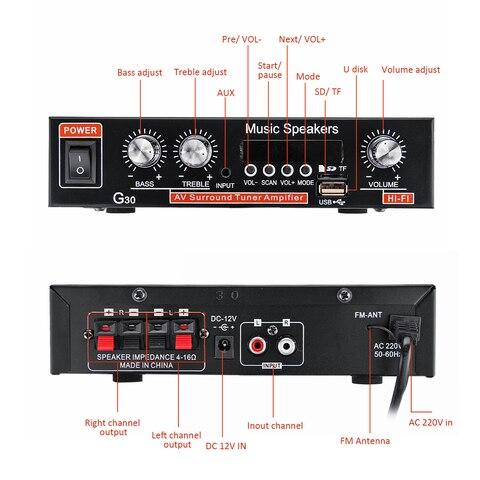 amplificador de caixa som automotivo 12v