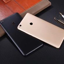 Max2 orijinal arka kapak Xia mi Mi Max 2 konut Metal pil kapı tamir yerine telefon arka kılıf + Logo kamera lens düğmeler
