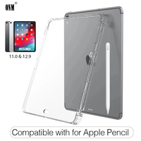 case ipad Cover Case For Apple iPad Pro 11 & 12.9 2018 Silicon Soft TPU Tablet Case Absorption, Compatible with for Apple Pencil * (1)