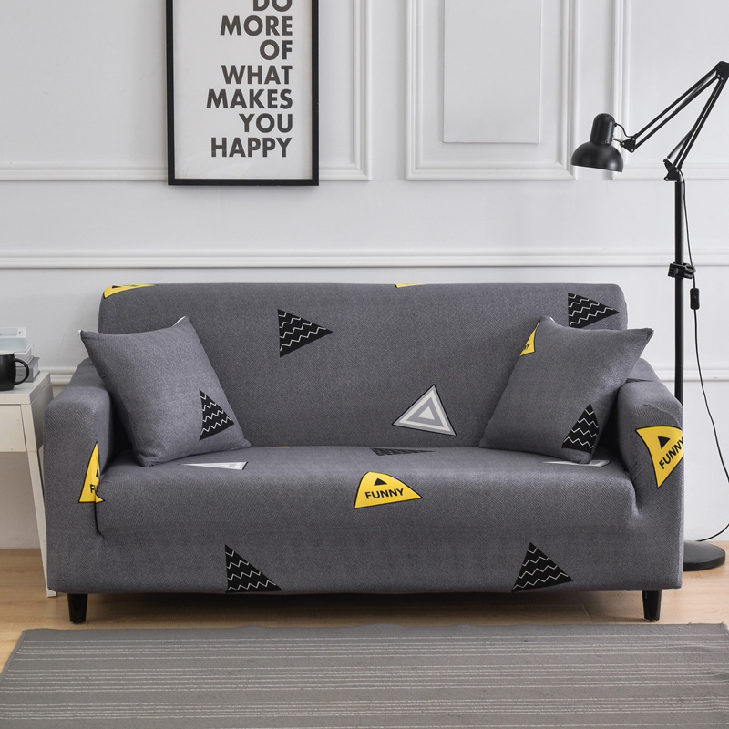 Caravana Stretch Oversized Sofa Slipcover 1-Piece Couch Cover Furniture Protector Soft Checks Spandex Fabric in Living Room