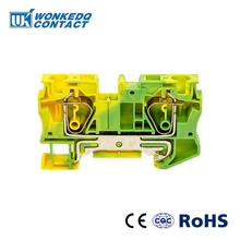 10Pcs ST-6PE Instead of PHOENIX CONTACT Connectors Return Pull Type Spring Cage Connection Ground Terminal Blocks Screwless