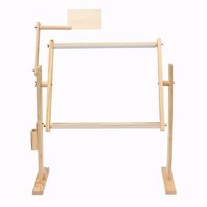 Ajuste marcos de madera maciza Mesa bordado crossstitch Pie de suelo para costura herramientas de costura hechas a mano sujetador de punto de cruz