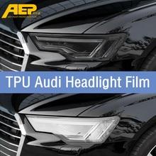 AEP TPU Car Transparent Blackened Headlight Protective Film Sticker For Audi A3 A5 Q5 Q3 A6L Q7 A4L Q5L Anti-scratch Sticker car seat covers camouflage hunting for audi a4l a6l q3 q5 q7 a7 a3 bmw 320i 328li 316i mini one benz glk300 c200l glk260 c180l
