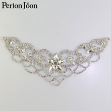 1pcs DIY welding Crystal patch Rhinestone Neckline for the wedding dress  hand sewing Clothing Accessories YL008