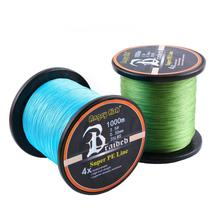 Fishing Line 4 Strands Braided 1000M PE Multifilament Line Saltwater Freshwater Smooth Floating Wire 12-80LB 300m fishing line braided line smooth multifilament 4 strands pe fishing line for saltwater fishing