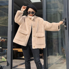 Jackets Overcoats Shearling Natural-Wool Real-Fur Winter Fashion Women Genuine New Autumn