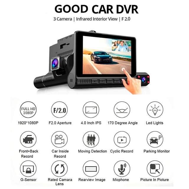 Dash Cam Video Recorder Rearview Camera 2