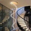 Люстра современный минималистичный дуплекс пол зал модная атмосфера Скандинавская гостиная лампа вилла спиральная лестница длинная висяч...