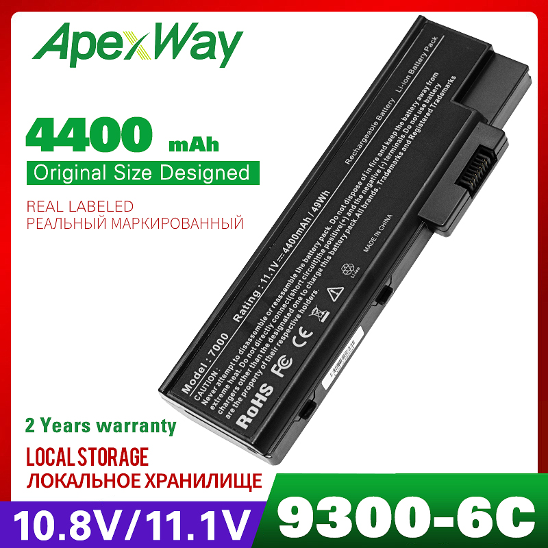4400mAh laptop battery for ACER Aspire 5670 7000 7100 7110 9300 9400 9500 TravelMate 4220 4670 5600 5610 5620 7510 BT.00803.014-in Laptop Batteries from Computer & Office on