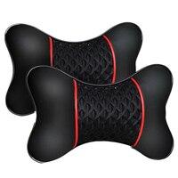 2 adet yeni pu deri araba koltuğu baş boyun yastığı yastık pedi kafalık yastık Boyun Yastığı    -