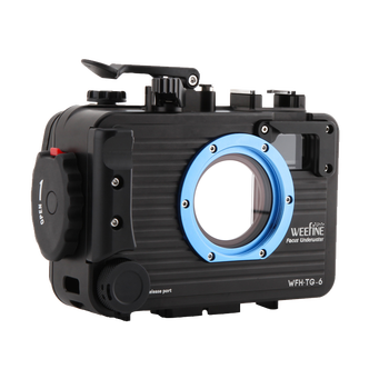 Weefine 100 meter TG5 TG6 Aluminium alloy Underwater Case Diving Waterproof Housing Case for Olympus TG-5 TG-6 Camera 1