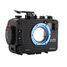 Weefine 100 متر TG5 TG6 سبائك الألومنيوم تحت الماء حالة الغوص مثبت مضاد للماء للكاميرا أوليمبوس TG 5 TG 6