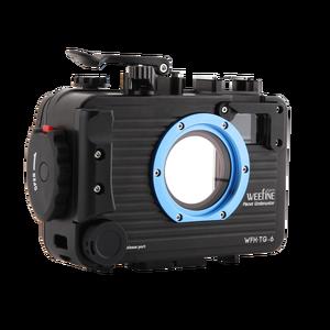 Image 1 - Weefine 100 meter TG5 TG6 Aluminium alloy Underwater Case Diving Waterproof Housing Case for Olympus TG 5 TG 6 Camera