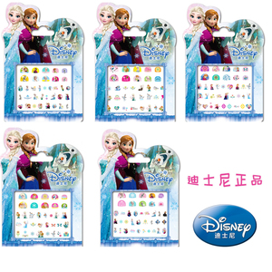 Genuine Girls Disney Frozen Elsa Anna Princess Makeup Toy Nail Stickers Toy Disney Princess Sticker Toy For Kids Christmas Gift(China)