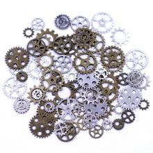 Pendentifs de roue de transmission mécanique, en alliage, pour colliers à breloques, bijoux, bricolage, 12-28mm, 20 pièces