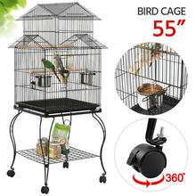 59* 59*139.5cm Bird Cages & Nests With 4 Casters Frame Assembly Type Wire Bird Cage Bird Supplies Pet Products Home Garden HWC