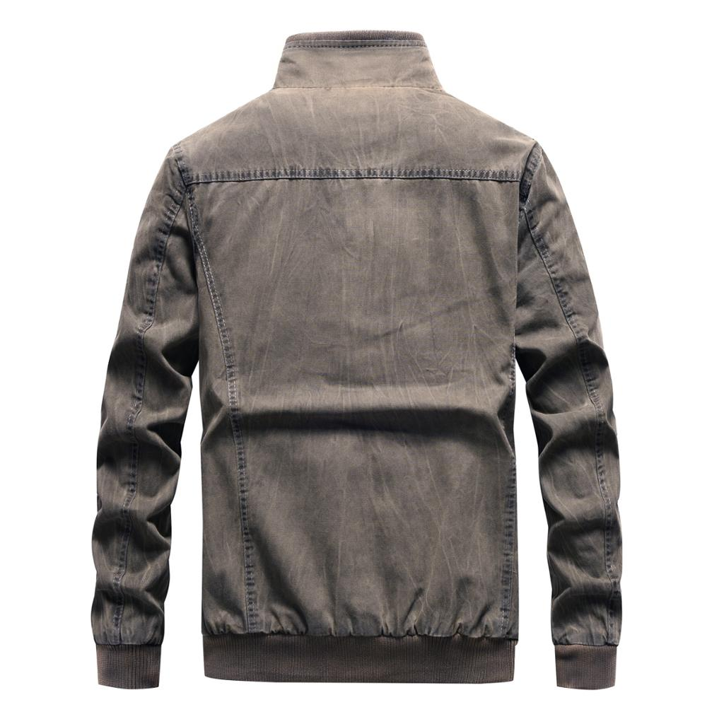 Image 2 - Denim Jacket Men Retro Cowboy Casual Coats Mens Windbreaker Tactical Military Cargo Bomber Jeans Jackets European Size Chaquetas-in Jackets from Men's Clothing
