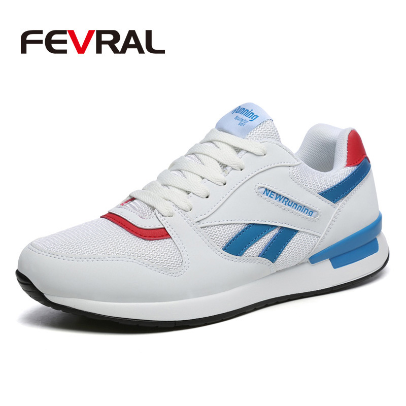 FEVRAL New Trend Big Size Running Shoes Men Sneakers Breathable Mesh Shoes Outdoor Couple Walking Casual Shoes Men Sport ShoesMens Casual Shoes   -