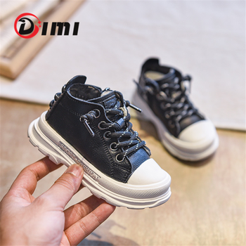 DIMI 2020 Autumn/Winter Baby Shoes Genuine Leather Baby First Walkers Comfortable Soft 0-3 Year Infant Toddler Shoes