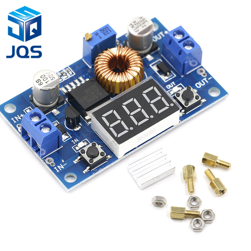 1pcs XL4015 5A High Power 75W DC-DC Adjustable Step-down Module+LED Voltmeter Power Supply Module