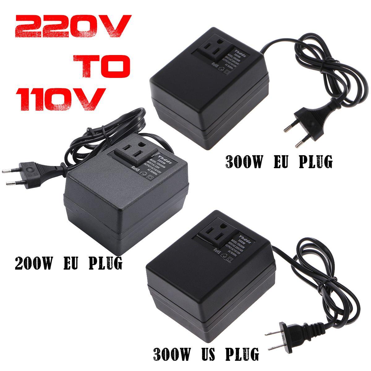 200W/300W Spannung Konverter Transformator 220V Bis 110V Step Down Reise Spannung Transformator Konverter EU/UNS Stecker