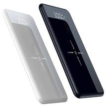10000mAh Portable Power Bank Mirror Display Ultra Thin Pover