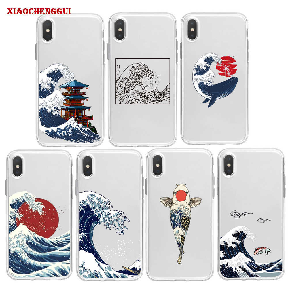Gelombang Besar Off Kanagawa Phone Case untuk Samsung A10 A20/30 A40 A50 A60 A70 A80 S8 S9 plus Laut Jepang Gelombang Laut Cover Coque