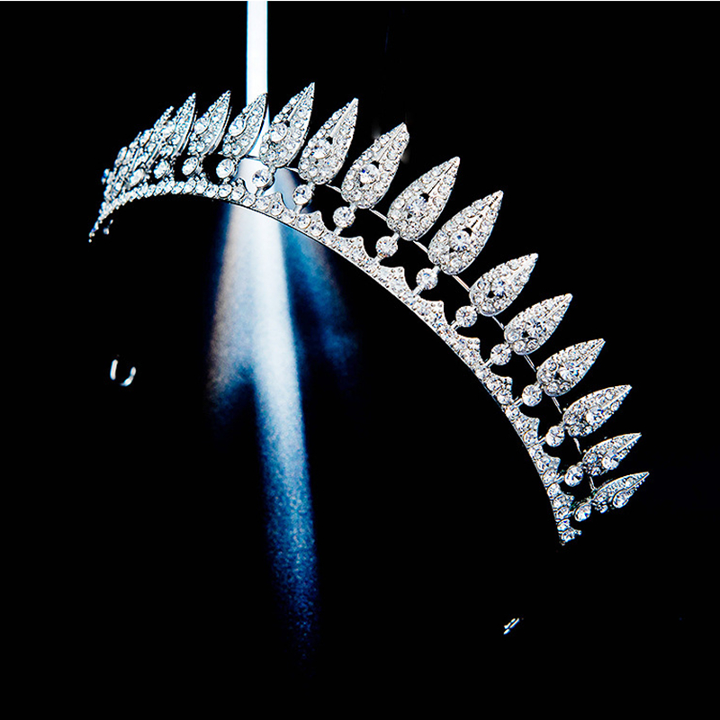 HG11608 New leaves bridal crown tiara hair hoop alloy rhinestone fashion wedding headpiece princess wedding hairpiece for bride