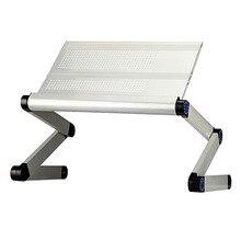 Alumínio notebook cama dobrável mesa do computador ajustável mesa do computador portátil suporte do computador mesas escritório bandeja café da manhã