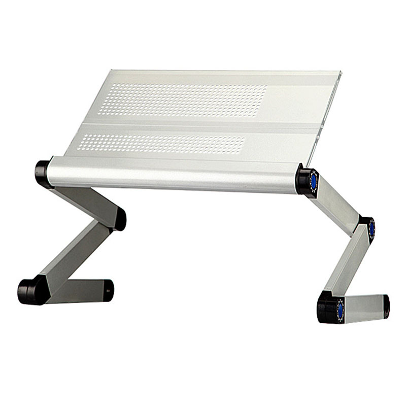 Aluminum Notebook Folding Bed Desk Computer Desk Adjustable Laptop Table Computer Stand Tables Office Desk Breakfast Tray