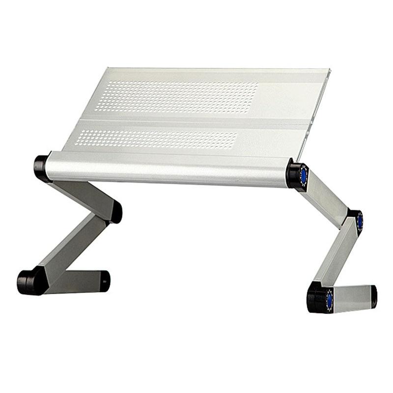 Aluminum Notebook Folding Bed Desk Computer Desk Adjustable Laptop Table Computer Stand Tables Office Desk Breakfast Tray