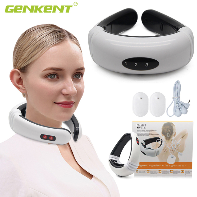 Electric Pulse Neck Massager Cervical Vertebra Impulse Massage Magnetic Therapy Relief Pain Tool Health Care Relaxation