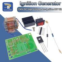 Высоковольтный генератор дугового зажигания постоянного тока, частота 15кВ, инвертор, повышающий рост 18650, комплект «сделай сам», U-образный ...