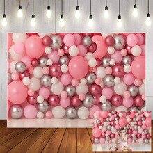 Mehofond dziewczyna 1 urodziny fotografia imprezowa różowy balon ciasto Smash Baby Shower dziecko portret tło do zdjęć Studio Photophone